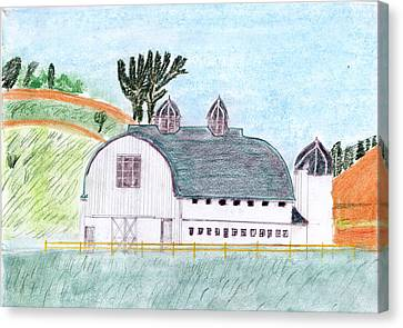 Dairy Barn Canvas Print by John Hoppy Hopkins