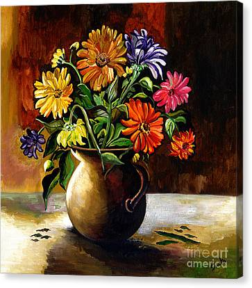 Daisies From My Garden Canvas Print by Sweta Prasad