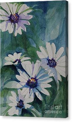Daisies In The Blue Canvas Print by Gretchen Bjornson