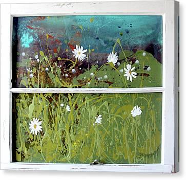 Daisy Pond Canvas Print by KJ Beargeon
