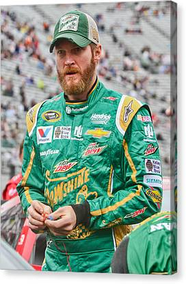Dale Earnhardt Jr Canvas Print by Jonathan McCoy