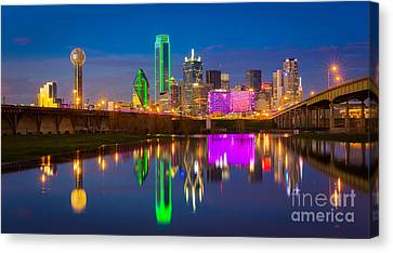 Dallas Between The Bridges Canvas Print by Inge Johnsson