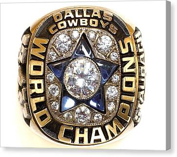 Dallas Cowboys First Super Bowl Ring Canvas Print by Paul Van Scott