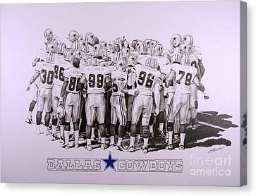 Dallas Cowboys Canvas Print by Shawn Stallings