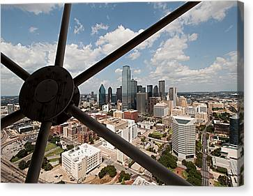 Dallas Downtown Canvas Print by Christian Hallweger