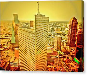 Dallas Gold Canvas Print by Douglas Barnard