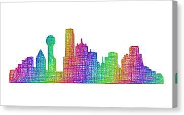 Dallas Skyline Canvas Print by David Zydd