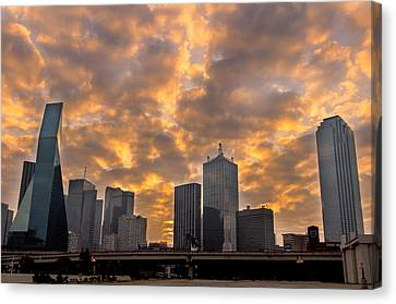 Dallas Skyline Canvas Print by Drew Castelhano