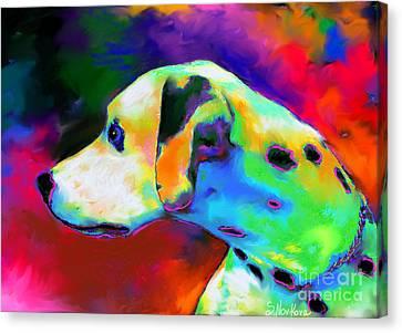 Dalmatian Dog Portrait Canvas Print by Svetlana Novikova