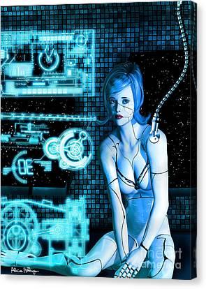 Damaged Cyborg Canvas Print by Alicia Hollinger