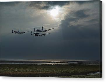 Dambusters Training Over The Wash Canvas Print by Gary Eason