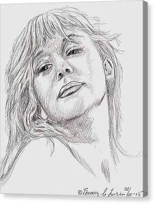 Dame Helen Mirren Canvas Print by ThomasE Jensen