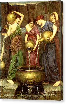 Danaides Canvas Print by John William Waterhouse