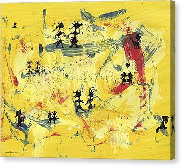 Dance Art Creation 1d9 Canvas Print by Manuel Sueess