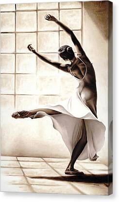 Dance Finesse Canvas Print by Richard Young