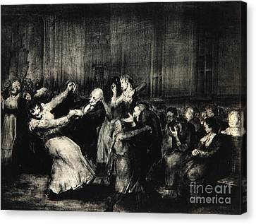 Dance In A Madhouse Canvas Print by George Wesley Bellows