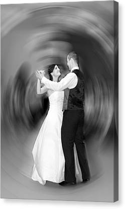 Dance Of Love Canvas Print by Daniel Csoka