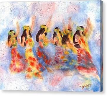 Dance Of Paradise Canvas Print by John YATO
