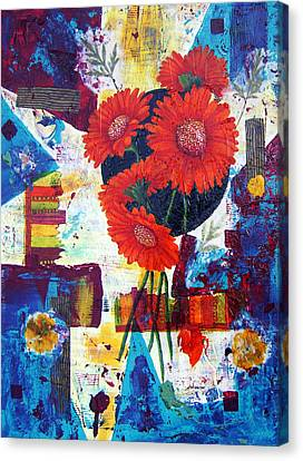Dance Of The Daisies Canvas Print by Terry Honstead