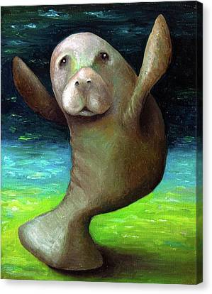 Dance Of The Manatee Canvas Print by Leah Saulnier The Painting Maniac