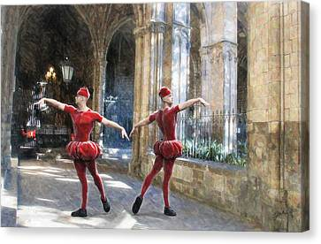 Dance Of The Swiss Guard Canvas Print by Joaquin Abella