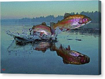 Dance Of The Trout Canvas Print by Brian Pelkey