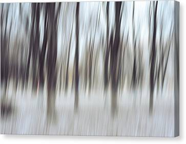 Dance Of Winter Trees. Impressionism Canvas Print by Jenny Rainbow