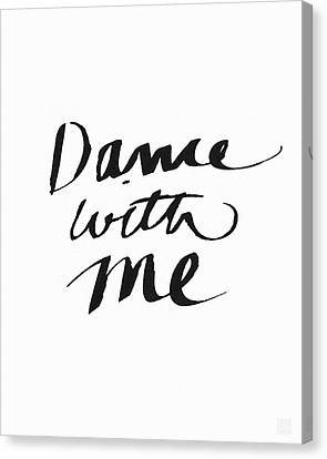 Dance With Me- Art By Linda Woods Canvas Print by Linda Woods