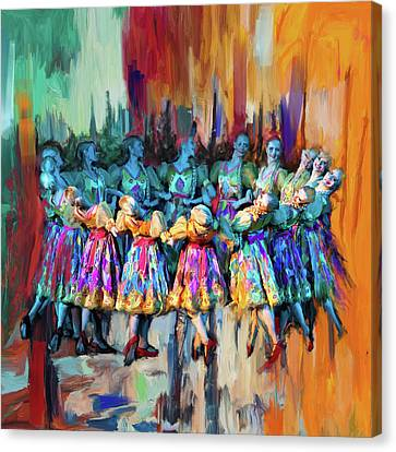 Dancer 263 2 Canvas Print by Mawra Tahreem