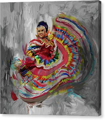 Dancer 266 4 Canvas Print by Mawra Tahreem