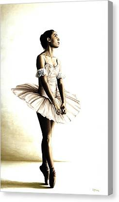 Dancer At Peace Canvas Print by Richard Young