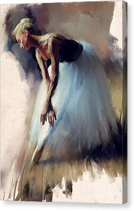 Dancer In Blue Canvas Print by H James Hoff