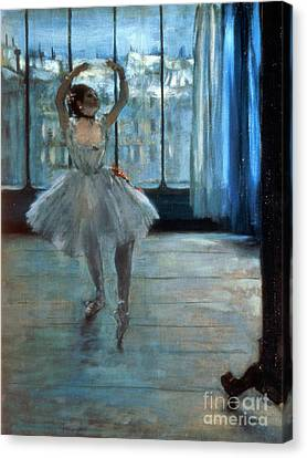 Dancer In Front Of A Window Canvas Print by Edgar Degas