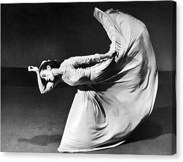 Dancer Martha Graham Canvas Print by Barbara Morgan
