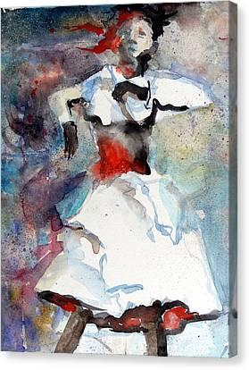 Dancer Canvas Print by Mindy Newman