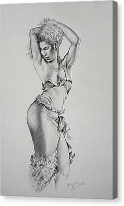 Dancer Muse Study Canvas Print by Harvie Brown