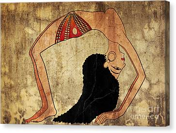 dancer of Ancient Egypt Canvas Print by Michal Boubin