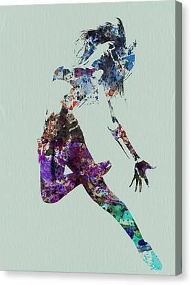 Dancer Watercolor Canvas Print by Naxart Studio
