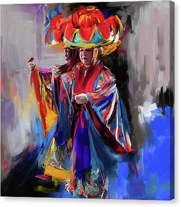 Dancers 269 1 Canvas Print by Mawra Tahreem