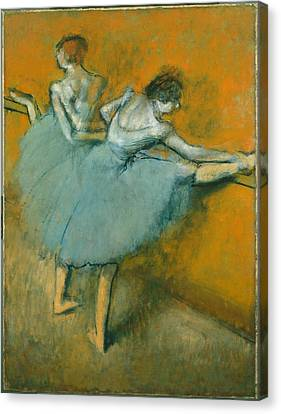 Dancers At The Barre  1900 Canvas Print by Edgar Degas