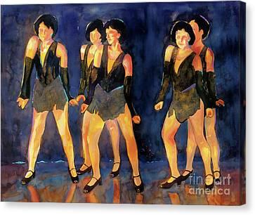 Dancers  Spring Glitz     Canvas Print by Kathy Braud
