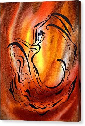Dancing Fire I Canvas Print by Irina Sztukowski