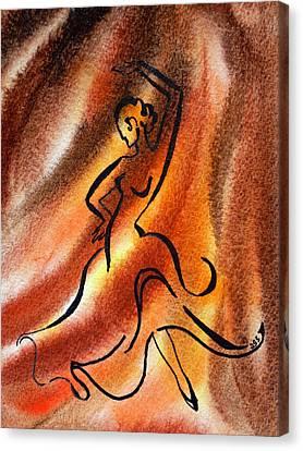Dancing Fire IIi Canvas Print by Irina Sztukowski