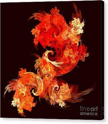 Dancing Firebirds Canvas Print by Oni H