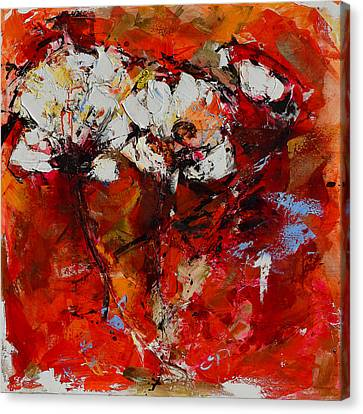 Dancing Flowers Canvas Print by Elise Palmigiani