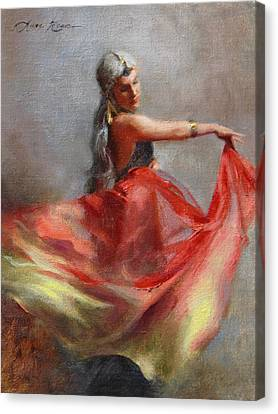Dancing Gypsy Canvas Print by Anna Rose Bain