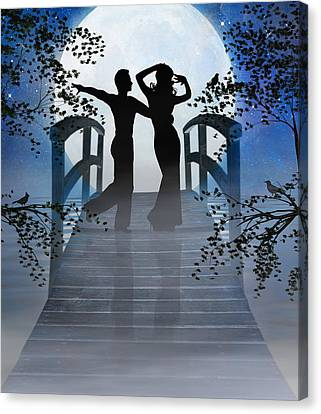 Dancing In The Moonlight Canvas Print by Nina Bradica