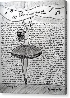Dancing Lyrics Canvas Print by Chenee Reyes