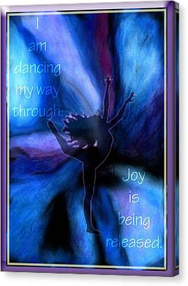 Dancing My Way Through Canvas Print by Cassandra Donnelly