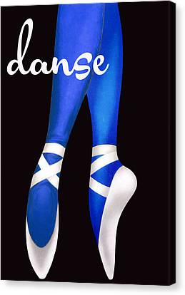 Dancing Shoes Canvas Print by Mindy Sommers